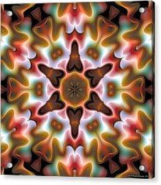 Acrylic Print featuring the digital art Mandala 68 by Terry Reynoldson