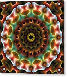 Acrylic Print featuring the digital art Mandala 74 by Terry Reynoldson