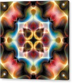 Acrylic Print featuring the digital art Mandala 77 by Terry Reynoldson