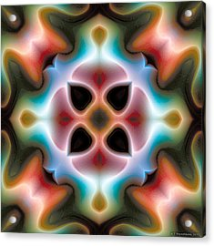 Acrylic Print featuring the digital art Mandala 82 by Terry Reynoldson