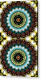 Mandala 99 For Iphone Double Acrylic Print by Terry Reynoldson