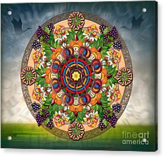 Mandala Armenian Grapes - Sp Acrylic Print
