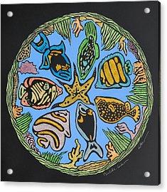 Mandala Caribe Acrylic Print by Diane Cutter