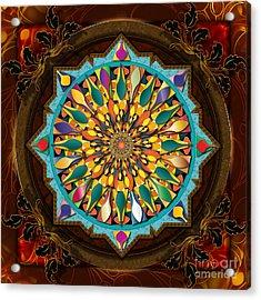 Mandala Droplets Acrylic Print by Bedros Awak