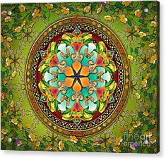 Mandala Evergreen Sp Acrylic Print