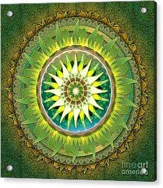 Mandala Green Acrylic Print