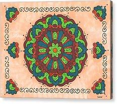 Mandala Love Acrylic Print by Susie WEBER