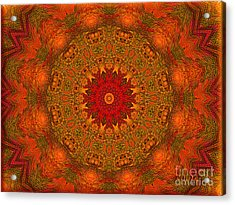Mandala Of The Rising Sun - Spiritual Art By Giada Rossi Acrylic Print