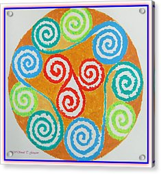 Acrylic Print featuring the painting Mandala by Sonali Gangane