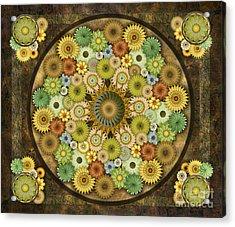Mandala Stone Flowers Sp Acrylic Print