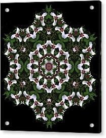 Mandala Trillium Holiday Acrylic Print