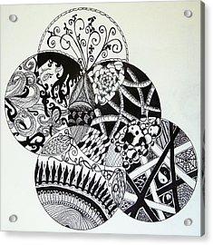 Mandalas Acrylic Print by Lori Thompson