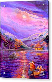Mandarin Dream Acrylic Print by Jane Small