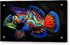 Acrylic Print featuring the painting Mandarin Fish by Phyllis Beiser