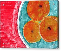Mandarins Acrylic Print by Linda Woods
