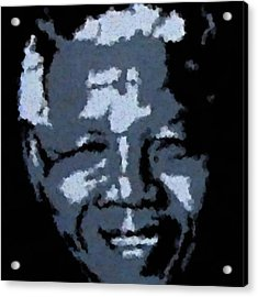 Mandela Acrylic Print by Asbjorn Lonvig