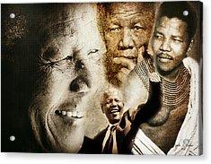 Mandela Journey Acrylic Print by Lynda Payton