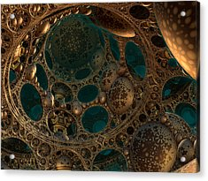 Mandelbulb Ceiling Acrylic Print by Melissa Messick