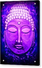 Acrylic Print featuring the painting Mandi's Buddha by Michelle Dallocchio