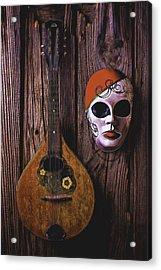 Mandolin Still Life Acrylic Print by Garry Gay