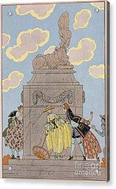 Mandoline Acrylic Print by Georges Barbier
