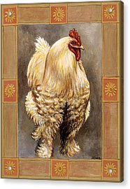 Mandy The Rooster Acrylic Print by Linda Mears