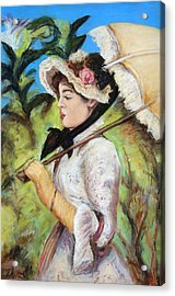 Manet Woman With Parasol Acrylic Print