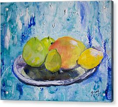 Acrylic Print featuring the painting Mango by Aleezah Selinger