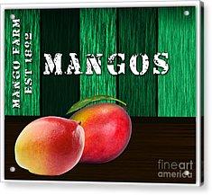 Mango Farm Sign Acrylic Print by Marvin Blaine