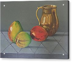 Mango Acrylic Print by Lina Velez