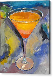 Mango Martini Acrylic Print by Michael Creese
