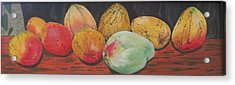 Mangoes On The Barbie Acrylic Print