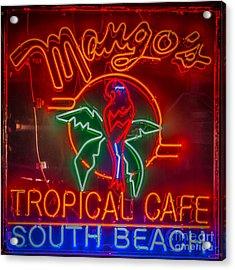 Mango's South Beach Miami - Hdr Style - Square Acrylic Print