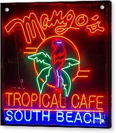 Mango's South Beach Miami - Square Acrylic Print