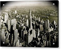 Manhattan And Chrysler Building II Acrylic Print