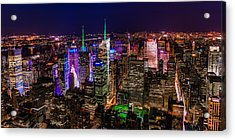 Manhattan At Night 2 Acrylic Print by Chris McKenna