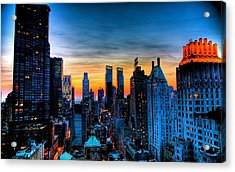 Manhattan At Sunset Acrylic Print