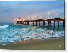 Manhattan Beach Reflections Acrylic Print