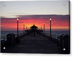 Manhattan Beach Sunset Acrylic Print