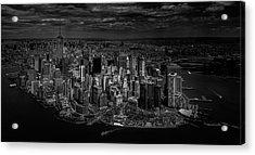 Manhattan - Bird's Eye View Acrylic Print