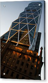 Manhattan Blues And Oranges Acrylic Print