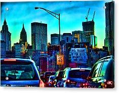 Manhattan Bound Acrylic Print by Terry Cork