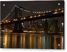 Manhattan Bridge 3019-48 Acrylic Print by Deidre Elzer-Lento