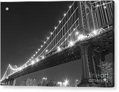 Manhattan Bridge At Twilight Acrylic Print by AHcreatrix