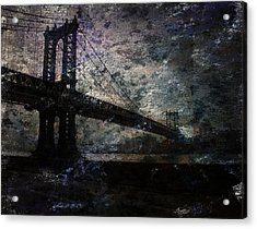Manhattan Bridge Acrylic Print by Bruce Rolff