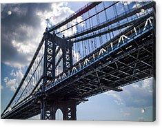 Manhattan Bridge Acrylic Print by Chris Halford