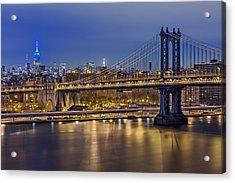 Manhattan Bridge Acrylic Print by Eduard Moldoveanu