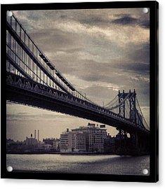 Manhattan Bridge In Ny Acrylic Print