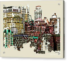 Manhattan Cluster Acrylic Print by Linda  Parker