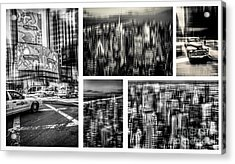 Manhattan Collection I Acrylic Print by Hannes Cmarits